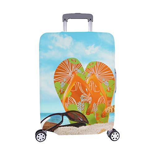 (Sommer-Strand-Vogelperspektive, Papierart-Muster Spandex-Trolley Reise-Gepäck-Schutz-Koffer-Abdeckung 28,5 X 20,5 Zoll)