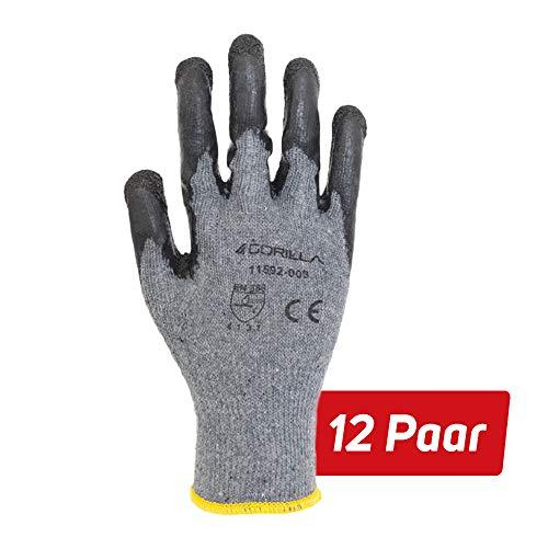 12 Paar Winter Arbeitshandschuhe Gorilla Grip Robuste Schutzhandschuhe (11)