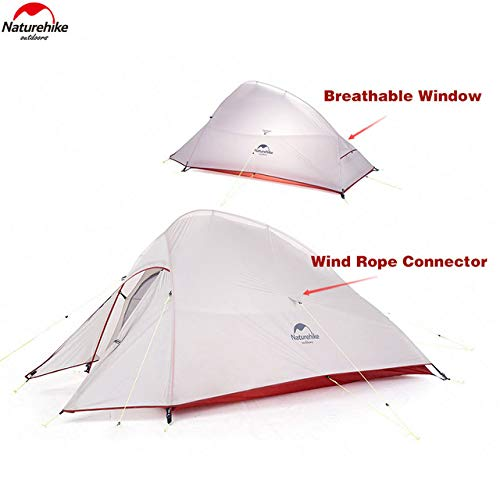 Naturehike nuovo cloud-up 2 persona tenda aggiornata doppio strato tenda 2018 tende da escursioni (20d grigio)