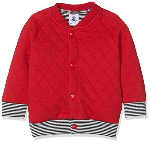 Petit Bateau Baby-Jungen Cardigans Jour Strickjacke, Rot (TERKUIT 02), Herstellergröße: 6 Monate