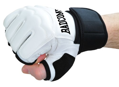 "Profi PU FreeFight MMA Handschuhe ""Modern Lights"" weiß, M"