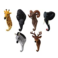 Deer Hanger Animal Coat Hook,BAFFECT® Resin Deer Head Wall Decoration Key Hooks Wall Hook Key Hanger Deer Wall Mount Hook Hanger Holder for Keys Coat Hat Towel Bag