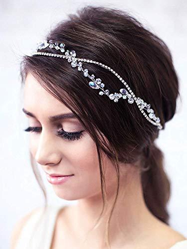 Ushiny Serre-tête de mariage avec perles et cristaux pour...
