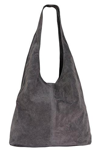 Bolso para hombro, de cuero, para mujer WL818., color Gris, talla XL