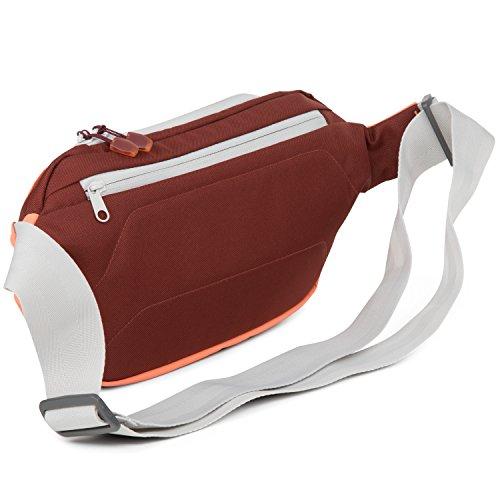 AEVOR Schultertasche Shoulder Bag verstellbar inklusive Tabletfach Weatherman - schwarz Red Dusk - korall, burgund