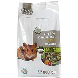 AIME Aliment complet Hamster, Gerbilles, NUTRI'BALANCE EXPERT, Repas Mélange Premium varié vitamines et digestion optimale 800G, Lot de 3