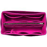 [Passt Neverfull MM/Speedy 30, Pivoine] Geldbörse einfügen (3 mm Filz, abnehmbare Tasche w/Metall Zip), Filz Tasche Organizer