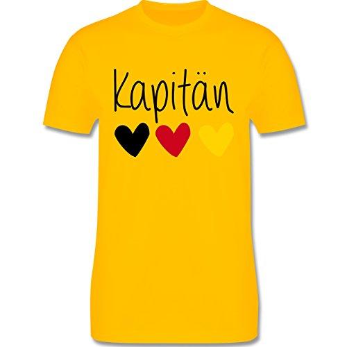 EM 2016 - Frankreich - Kapitän - Herren Premium T-Shirt Gelb