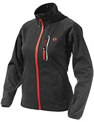 Ultrasport 110128 Veste d'extérieur femme Softshell fonctionnelle Mia pour le jogging / le sport avec Ultraflow 5.000 Noir rouge M