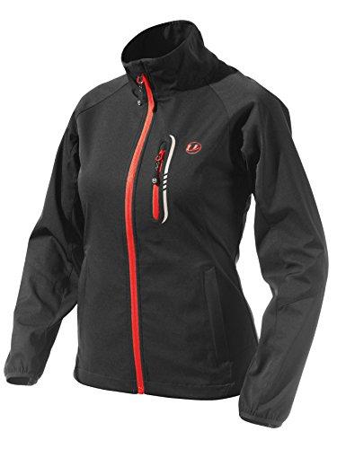 Ultrasport Mia - Chaqueta para mujer, color negro / rojo, talla XS