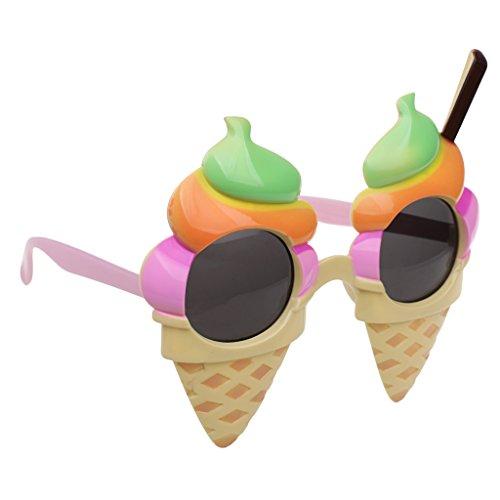 MagiDeal Kunststoff Dekobrille Lustige Partybrille Sonnenbrille Kostüm Zubehör für Feier Party Halloween Junggesellinnenabschied Party - Gold, 16 x 13,5 cm