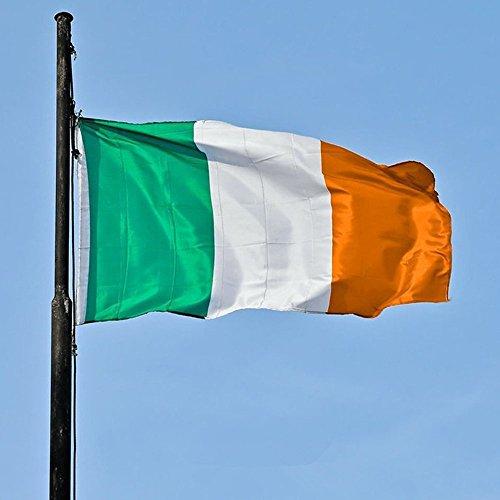 land Flagge Nationale Stolzflagge Fahne Feiner Polyester Flaggen wetterfest weiß 5ft x 3ft(150*90cm) ()