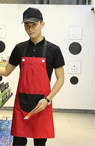 MONEYY Tablier publicitaire, blanc pur, uniforme coréen tablier dacron, 72cm*70cm,UN