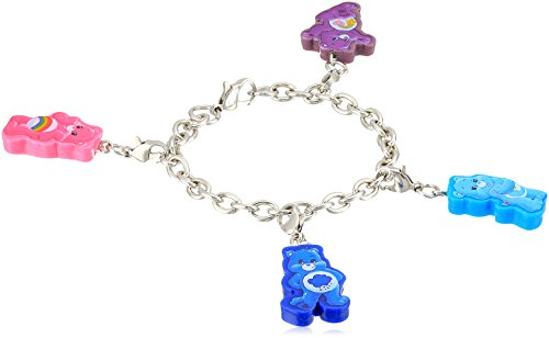Image of Care Bears 4 Piece Cutout Cheer Grumpy Bedtime BF Charm Bracelet