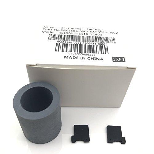 PA03586-0001PA03586-0002Pick Roller Pad Assy Montage Pickup Roller Separation Pad für Fujitsu S1500S1500M fi-61103586(mit Installation Anweisungen und Video) - Pick Roller Pad