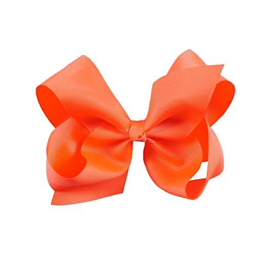 6 Zoll große Grosgrain Ribbon Solid Hair Bögen mit Clips Mädchen Kinder Haarspangen Headwear Boutique Haarschmuck 18 (Halloween-boutique Hair Bows)