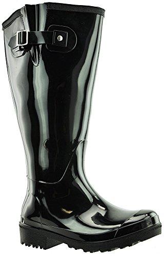 JJ Footwear Damen Stiefel PVC Wellies L Schwarz PVC