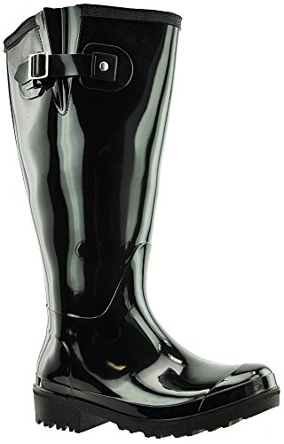 JJ Footwear, Stivali donna Nero (Schwarz PVC)