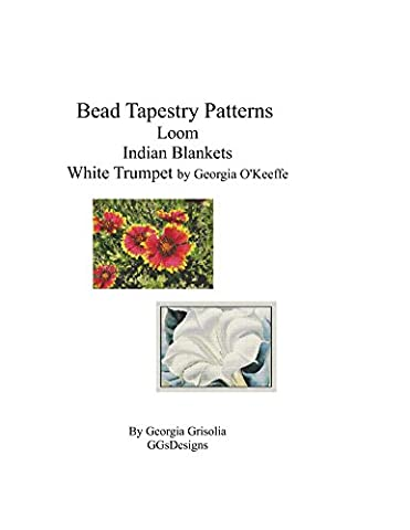 Bead Tapestry Patterns loom Indian Blankets White Trumpet by georgia o'keefe