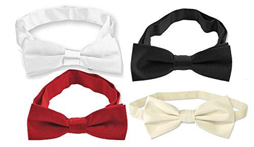 Homgaty Kinder Fliege Dickie Schleife Krawatte Hochzeiten Parteien Abendessen passt tragen zufällige Farbe (Tragen Farbe-krawatte)