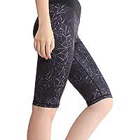 DECJ Pantalones de Yoga de la Cintura de la Mujer Alta, Control de la Barriga Entrenamiento en Funcionamiento, 4 vías Estiramiento Yoga Polainas,A,S