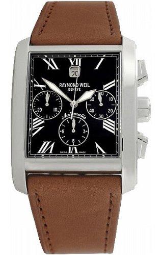 Raymond Weil 4875-STC-00209 - Reloj Analógico Para Hombre, color Negro/Marrón