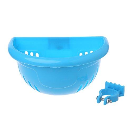 Chiic Fahrradkorb für Scooter, zur Aufbewahrung, Lenker vorne aus Kunststoff, für Kinder mit Fahrrad, Zubehör Tasche, blau, 18cm x 12cm x 11cm