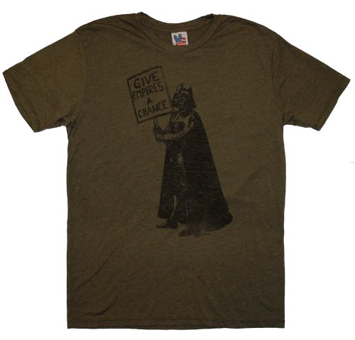 Star Wars - Camiseta - Manga Corta - Opaco - para Hombre Marrón Verde Medium