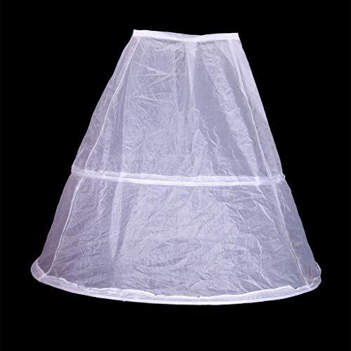 n 2 Creolen Weiß Unterrock 65cm Hochzeit Petticoat Kinder Kinder Elastische Taille Kordelzug Eine Schicht Krinoline Half Slip ()