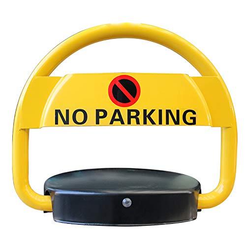 ZLLZM Parkplatzsperre,Klappbare Fernbedienung Automatisch Herausnehmbar Parkschranke,Parksperre Mit 2 Schlüssel,2 Fernbedienung,2 Schraube