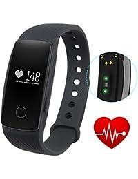 GBlife ID107 Intelligent Bracelet Connecté / Fréquence Cardiaque / Tracker d'Activité / Podomètre Calories / Montre Cardiofréquencemètre / Bluetooth 4.0 / Caméra Télécommande / Écran OLED pour Smartphone iPhone Android