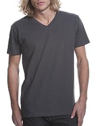 siguiente nivel cuello de Rib para hombre tri mezcla satinado Label–Camiseta para hombre 5dwGc
