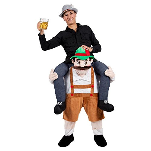 Peeks Adult Carry Me Bavarian Beer Guy Fancy Dress Costume Full Outfit One Size