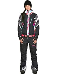 Damen Snowboard Hose Roxy Impression Suit Pop Snow