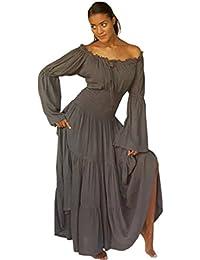 LOTUSTRADERS Damen Boho Zigeuner Kleid