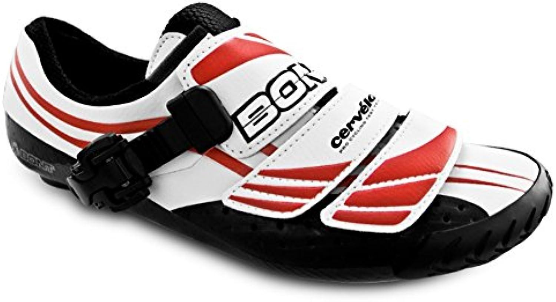 Bont A3 weissszlig/Rot Rennradschuhe Größe 39