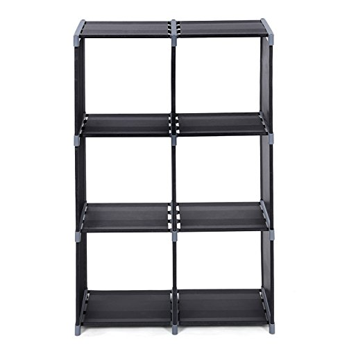 SONGMICS 6-Cube Bookcase, DIY Cube Storage Rack, Staircase Organiser in Living Room, Bedroom, Children's Room, Study…