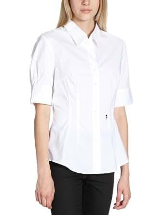 Schwarze Rose Damen Bluse Slim Fit, 080607, Gr. 38, Weiß (01)