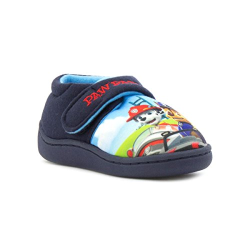 Paw Patrol Kids Navy Character Slipper - Size 6 Child UK - Blue