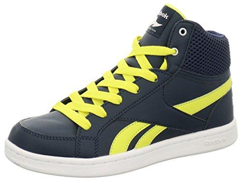 Reebok Kids Basketball Boots Größe 33 Collegiate Navy/Hero Yellow/White (Reebok Basketball Schuhe Kid)