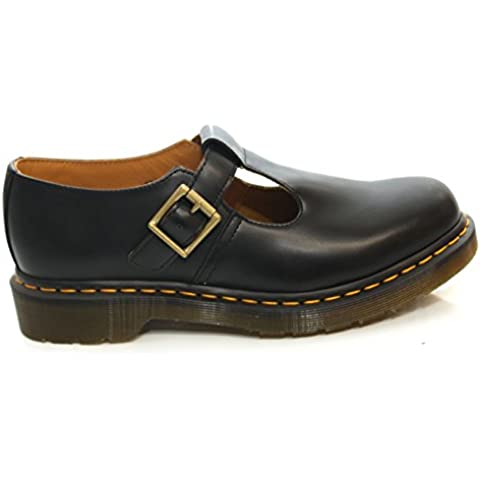 Dr.Martens Polley Black Leather Womens Shoes Size 41 (Martens Womens Sandali)
