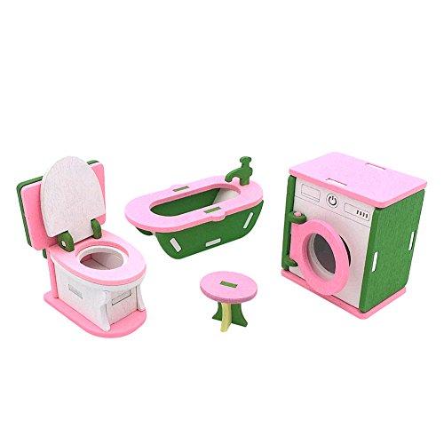 Samber Puppenhaus Möbel Holzpuppe Küche Esstisch Familien Spielzeug Kit für Kinder Geschenk - Sammlung Holz Esstisch