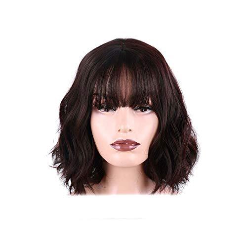 Kurzhaarperücke, synthetisches Haar, für Damen, hitzebeständige Faser