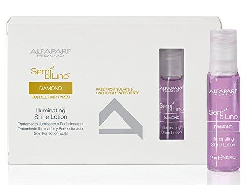 Alfaparf - Semi Di Lino Diamond Illuminating Shine Lotion (For All Hair Types) 12X13Ml/0.43Oz - Soins Des Cheveux