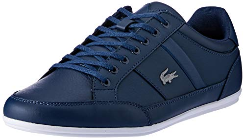 Lacoste Chaymon BL 1 CMA, Baskets Hommes, Bleu (NVY/WHT 092), 43 EU