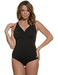 Ulla Popken Femme Grandes tailles | Body Moulant Col V Sous-vêtement Lingerie Body string Stringbody, body-forming, effet modelant | 708699