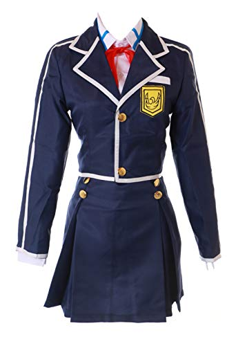 Asuna Kostüm Blau - Kawaii-Story MN-84 Sword Art Online SAO Asuna blau 4-TLG. Schuluniform Anzug Cosplay Set Kostüm (XL)