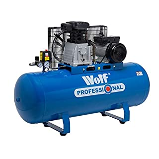 Wolf Air Compressor Dakota 150 Litre, 3HP, 14CFM, 240v, MWP 150psi, 10BAR Twin Cylinder Pump