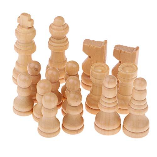 SM SunniMix 16er-Set Ersatz Schachfiguren Ersatzfiguren, aus Holz