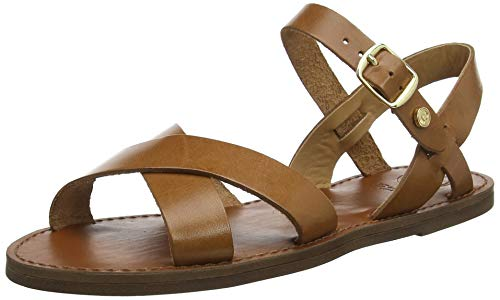 öchelriemchen Sandalen, Braun Tan-Leather, 40 EU ()